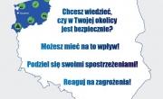 Plakat dotyczący Krajowej Mapy Zagrożeń Bezpieczeństwa