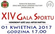 Plakat promujący XIV Galę Sportu