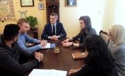 Spotkanie z burmistrzem w związku z wymianą młodzieżową litewsko-włosko-turecko-polską