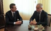Burmistrz Barlinka Dariusz Zieliński i Senator RP Grzegorz Napieralski